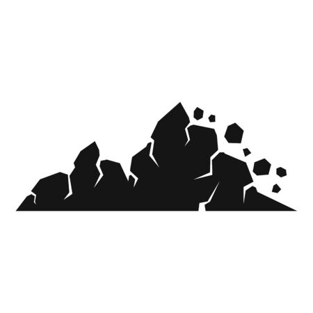 Surface landslide icon, simple style