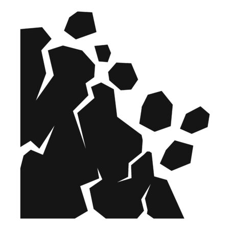 Down landslide icon, simple style Illustration