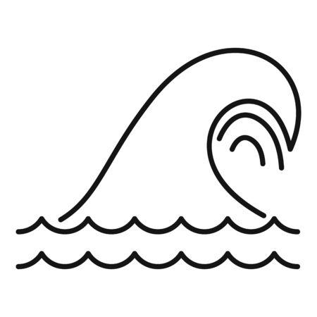 Tsunami icon. Outline tsunami vector icon for web design isolated on white background Vektorové ilustrace