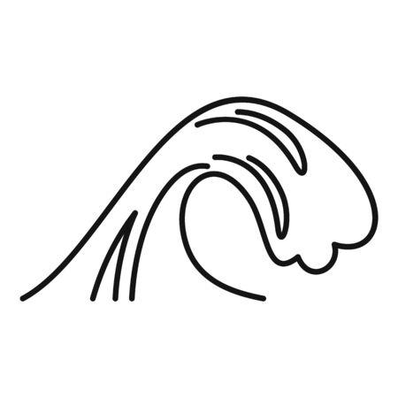 Warning tsunami icon, outline style