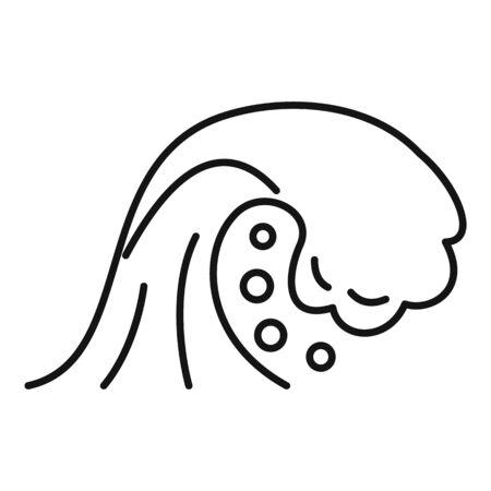 Thunderstorm tsunami icon, outline style