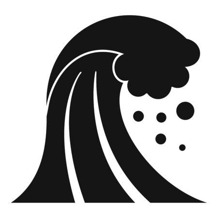 Damage tsunami icon, simple style