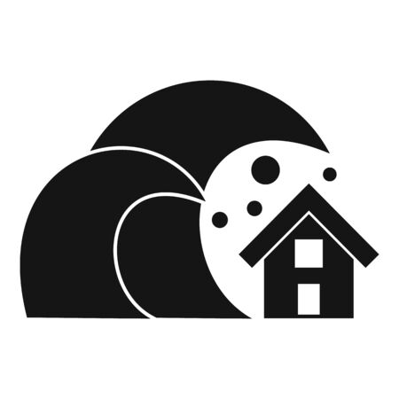 House tsunami icon. Simple illustration of house tsunami vector icon for web design isolated on white background