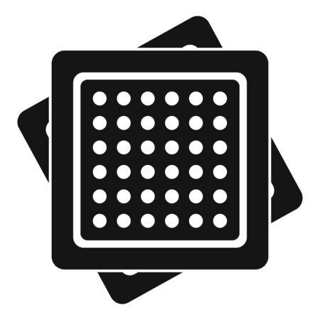Cracker icon, simple style