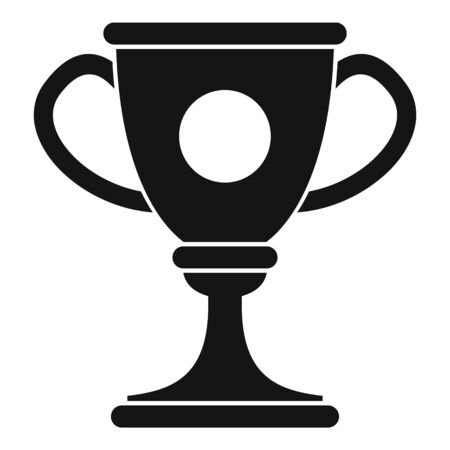 Soccer cup icon. Simple illustration of soccer cup vector icon for web design isolated on white background Stock Illustratie