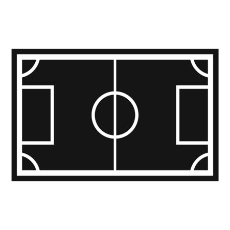 Soccer field icon. Simple illustration of soccer field vector icon for web design isolated on white background