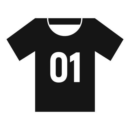 Soccer player tshirt icon. Simple illustration of soccer player tshirt vector icon for web design isolated on white background