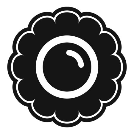 Flower biscuit icon. Simple illustration of flower biscuit vector icon for web design isolated on white background