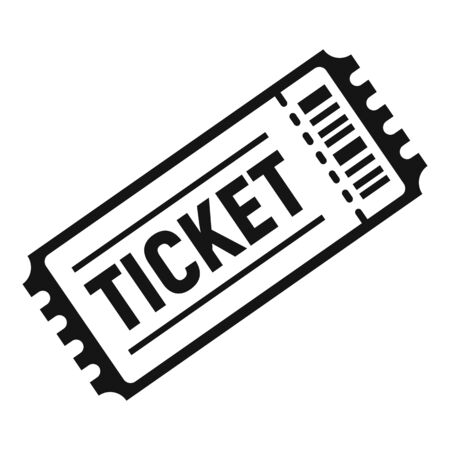 Soccer match ticket icon. Simple illustration of soccer match ticket vector icon for web design isolated on white background