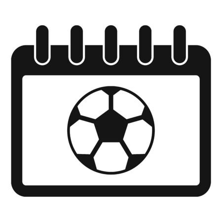 Soccer calendar icon. Simple illustration of soccer calendar vector icon for web design isolated on white background