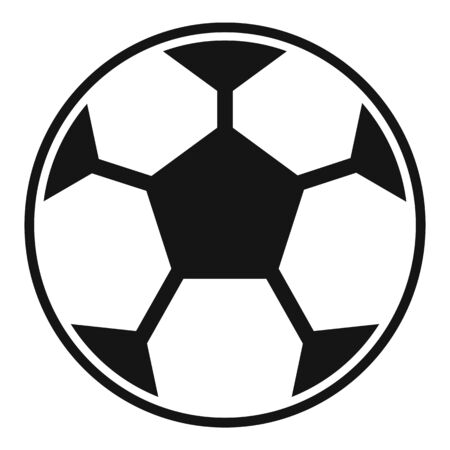 Classic soccer ball icon. Simple illustration of classic soccer ball vector icon for web design isolated on white background