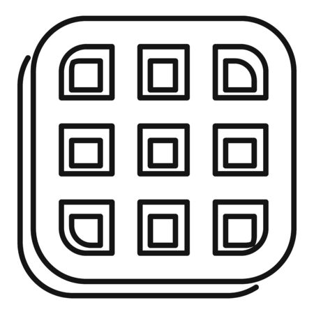 Biscuit icon, outline style