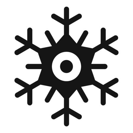 Ice snowflake icon, simple style