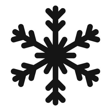 Season snowflake icon, simple style