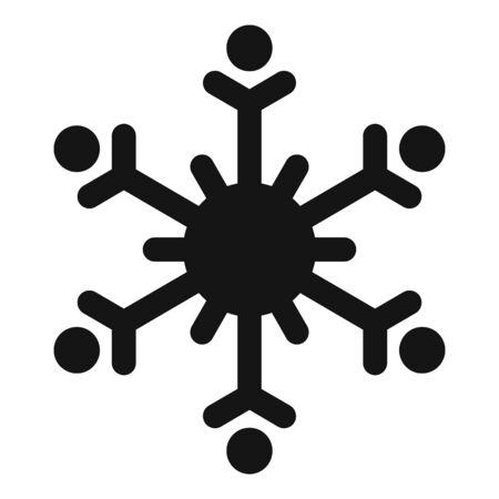 Winter snowflake icon, simple style