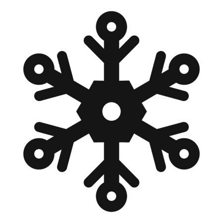Ornate snowflake icon, simple style