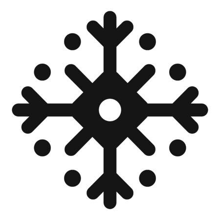 Traditional snowflake icon, simple style Stock Illustratie