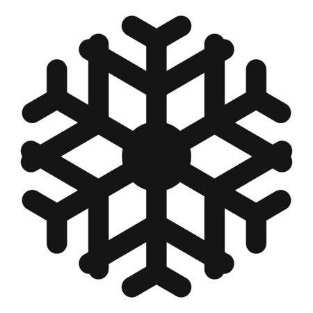 Decoration snowflake icon, simple style Stock Illustratie