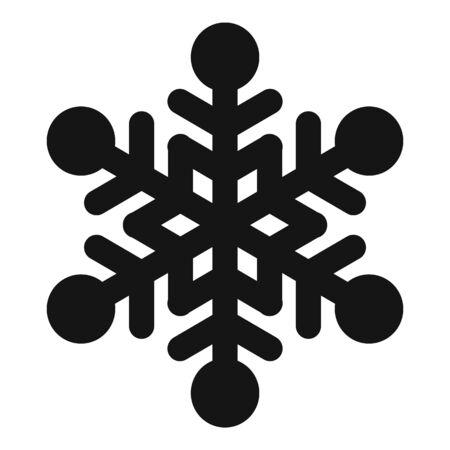 Beautiful snowflake icon, simple style Stock Illustratie