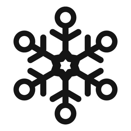 Xmas snowflake icon, simple style