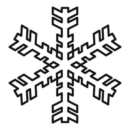 Christmas snowflake icon, outline style