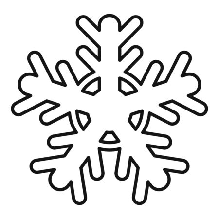 Cold snowflake icon, outline style 일러스트