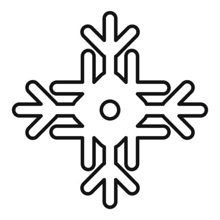 Nature snowflake icon, outline style