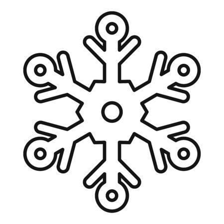 Ornate snowflake icon, outline style Stock Illustratie