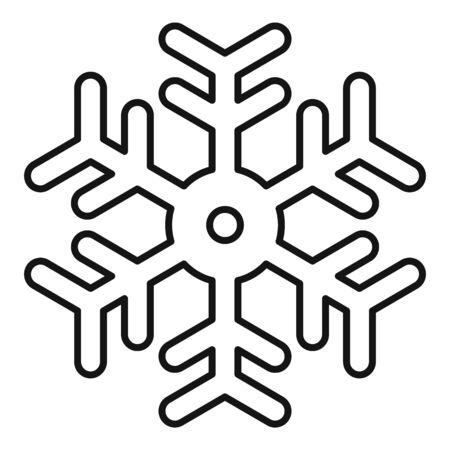 Snowflake element icon, outline style