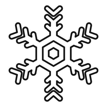 Design snowflake icon, outline style Stock Illustratie