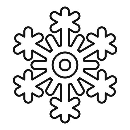 Freeze snowflake icon, outline style Stock Illustratie