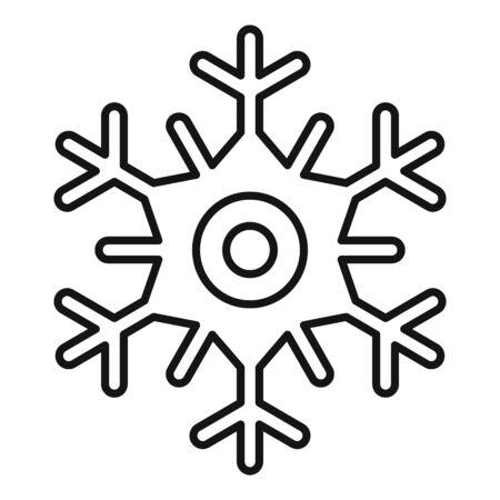 Ice snowflake icon, outline style