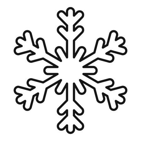 Season snowflake icon, outline style