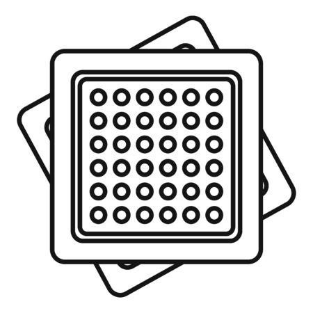Cracker icon, outline style Illustration
