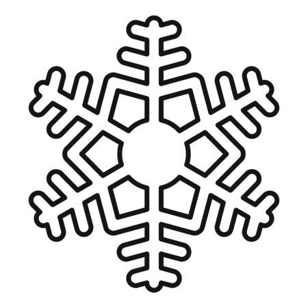 Neuschnee-Schneeflocke-Symbol, Umrissstil