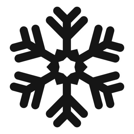 Frost snowflake icon, simple style