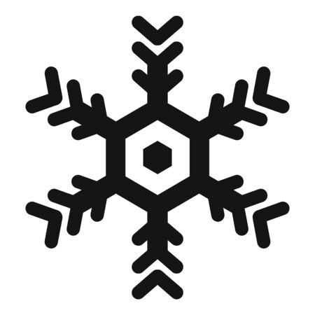 Design snowflake icon, simple style Stock Illustratie