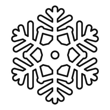 Ornament snowflake icon, outline style Stock Illustratie