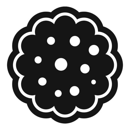 Bakery biscuit icon, simple style
