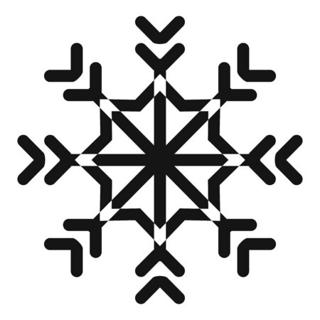 Star snowflake icon, simple style