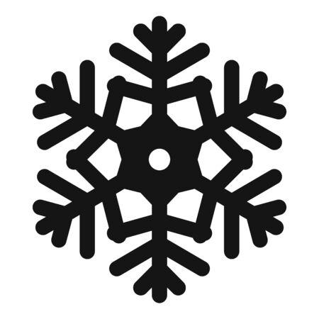 Ornament snowflake icon, simple style Stock Illustratie