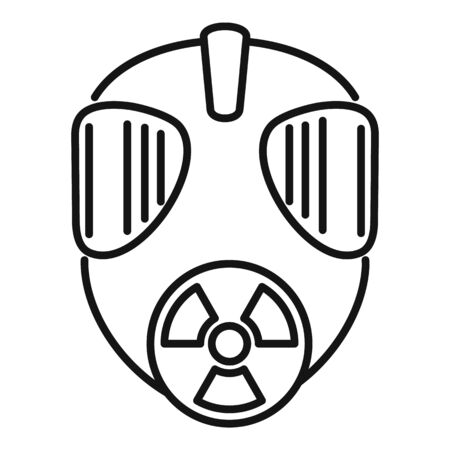 Gas radiation mask icon. Outline gas radiation mask vector icon for web design isolated on white background