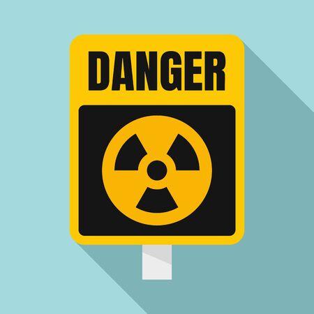 Danger zone sign icon. Flat illustration of danger zone sign vector icon for web design