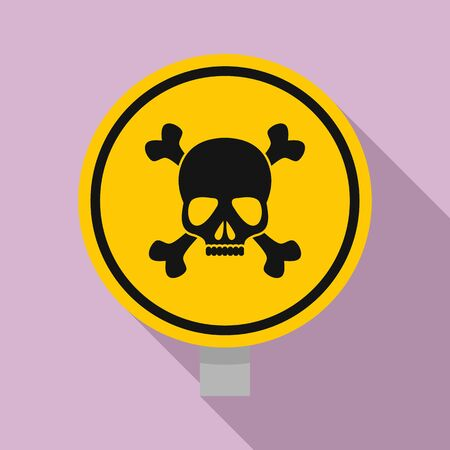 Round danger sing icon. Flat illustration of round danger sing vector icon for web design