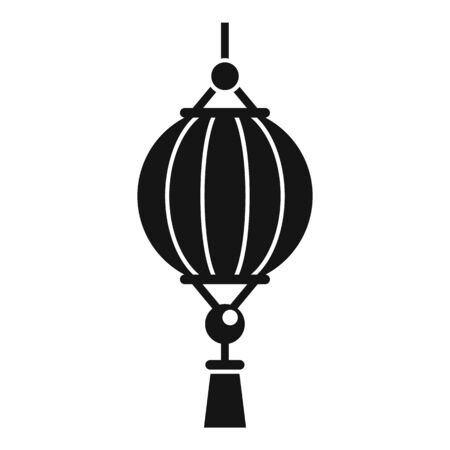 Party chinese lantern icon, simple style