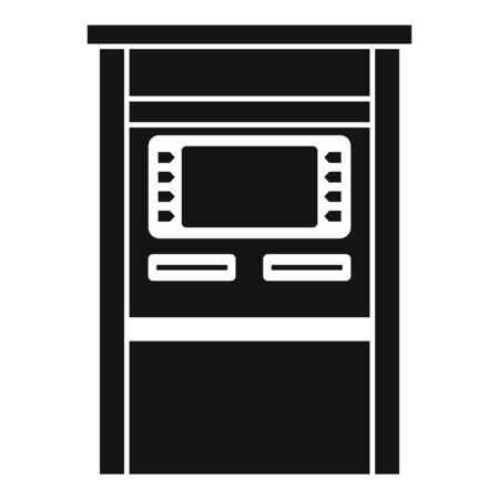 Atm terminal icon, simple style