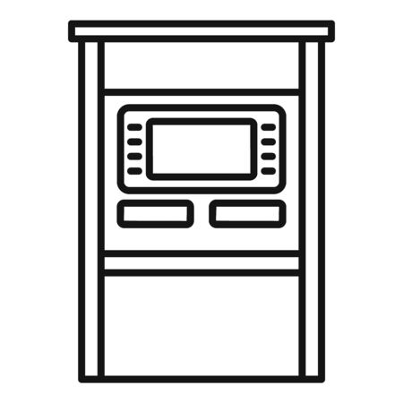 Atm terminal icon, outline style 向量圖像