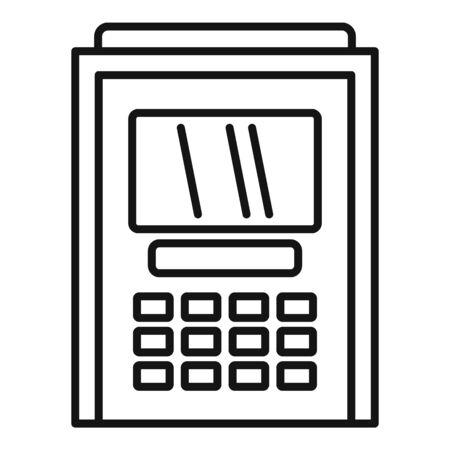Atm cash debit icon, outline style