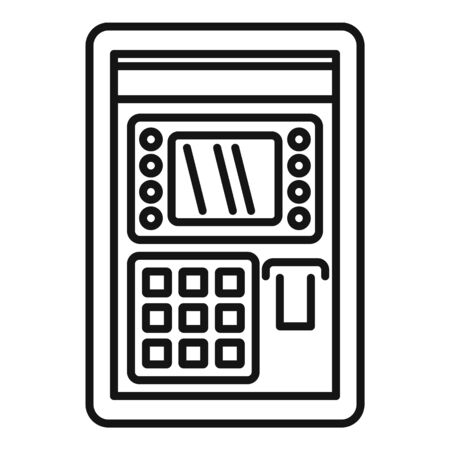 Atm pin code icon, outline style