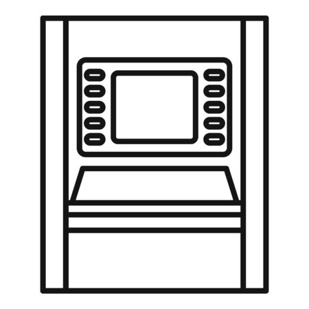 Atm modern chip icon, outline style 向量圖像